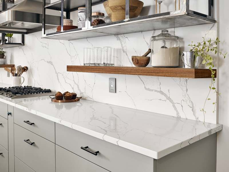 Featured Calacatta Laza Quartz From Msi S Premium Natural Countertops