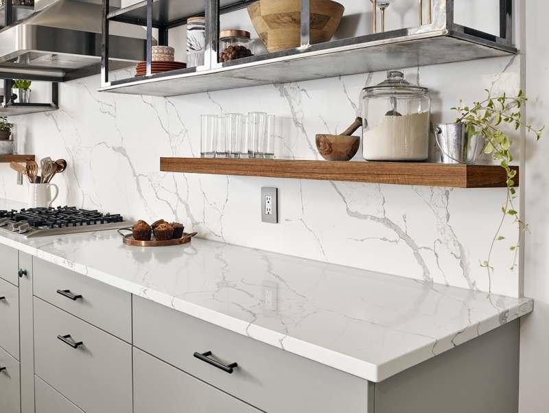 Featured Calacatta Laza Quartz From Msi S Premium Natural Countertops