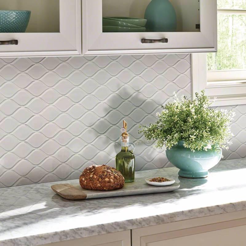 12 Awesome Backsplashes That Aren T Tile: Uniquely Shaped Backsplash Mosaics That Don't Compromise