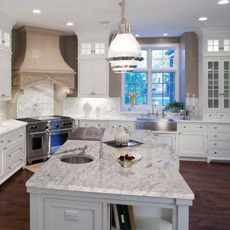Gray With White Cabinets Granite Countertops: Are White Or Light Granite Countertops Practical For Kitchens?