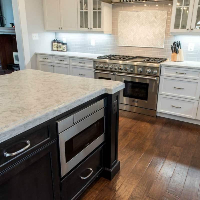 Current Obsessions: White Quartz Countertops That Look Like Carrara