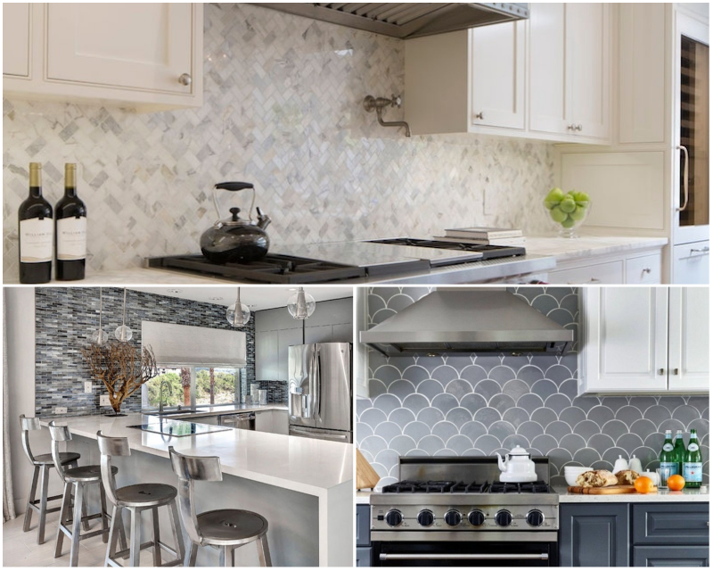 Modern Kitchen Backsplash Remix Classic Materials Fresh Mosaics