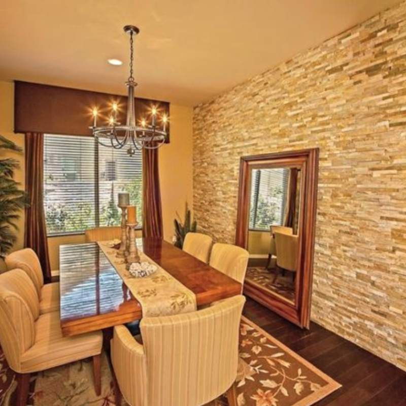 Stacked Stone Walls To Add Warmth And