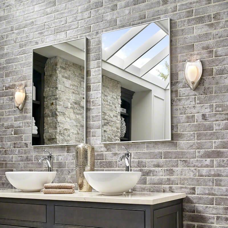 vintage brick looks in porcelain tile