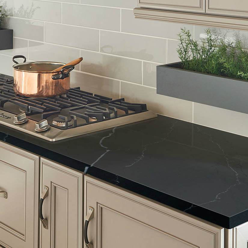 The Dark Side Black Quartz And Granite Countertops