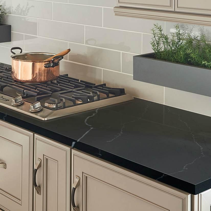 The Dark Side Black Quartz And Black Granite Countertops Compared