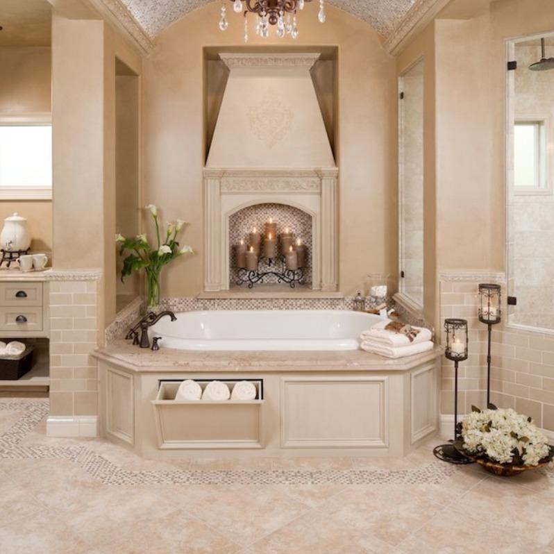 Natural Travertine Bathroom Floors
