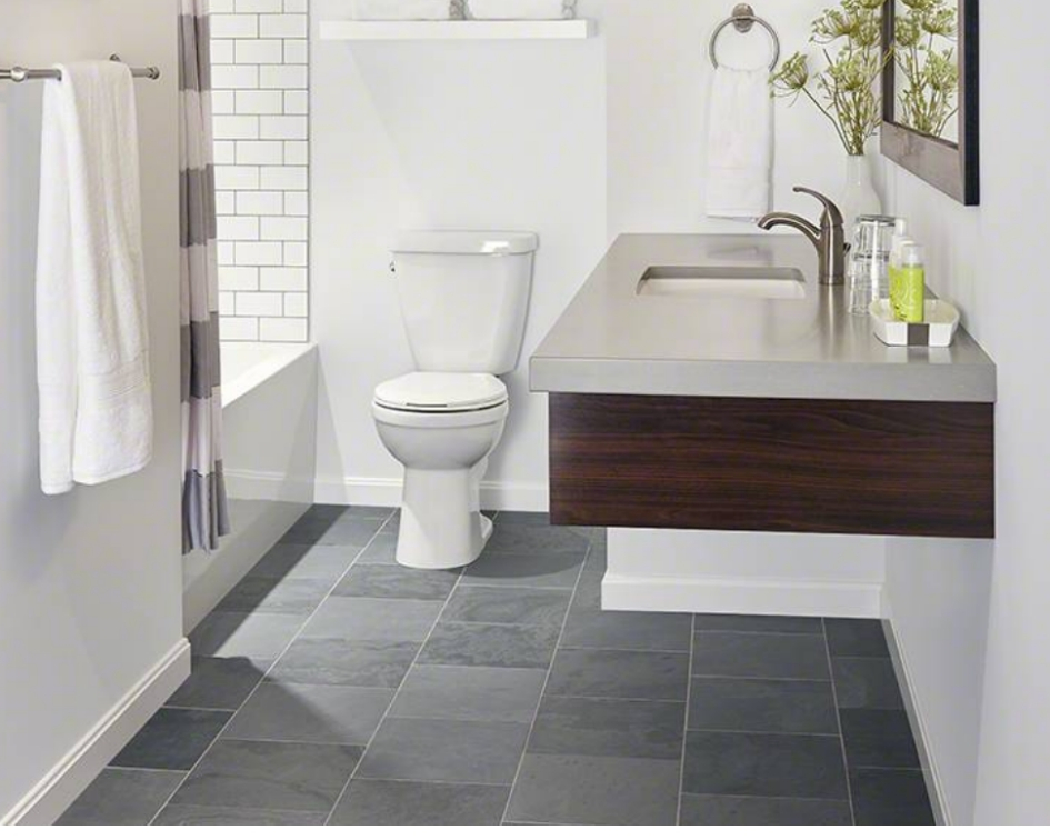 Slate Tile Bathroom Floor Image Of