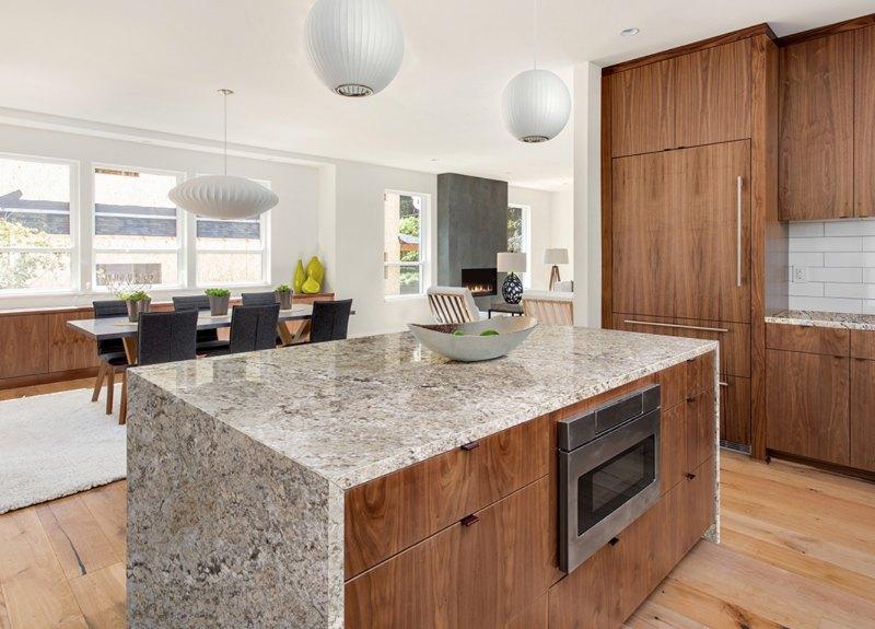 Honed Leathered Granite Countertop