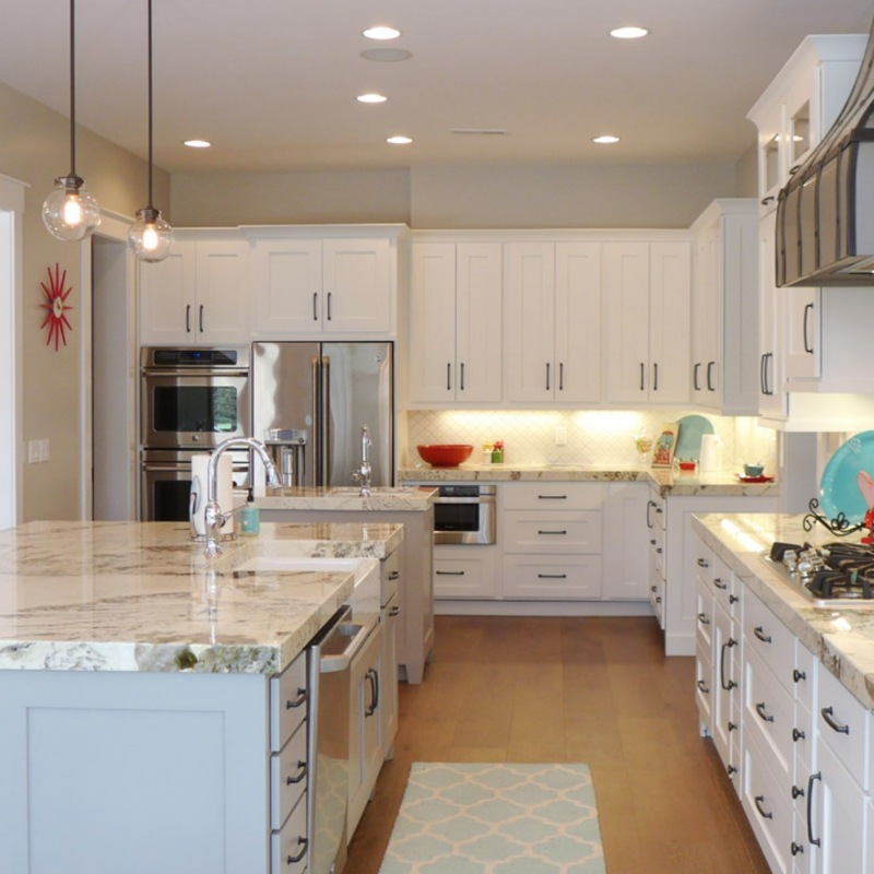 classic white granite kitchen countertop