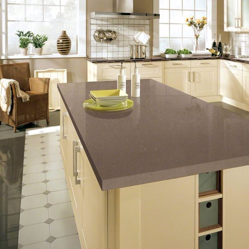 beautiful brown quartz countertop kitchen