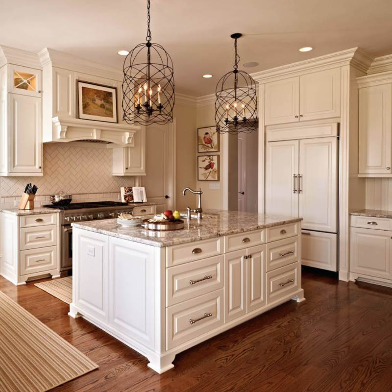 classic granite kitchen countertop in modern country kitchen