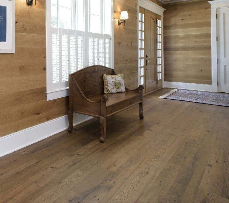 entryway with reclaimed wood look lvt flooring