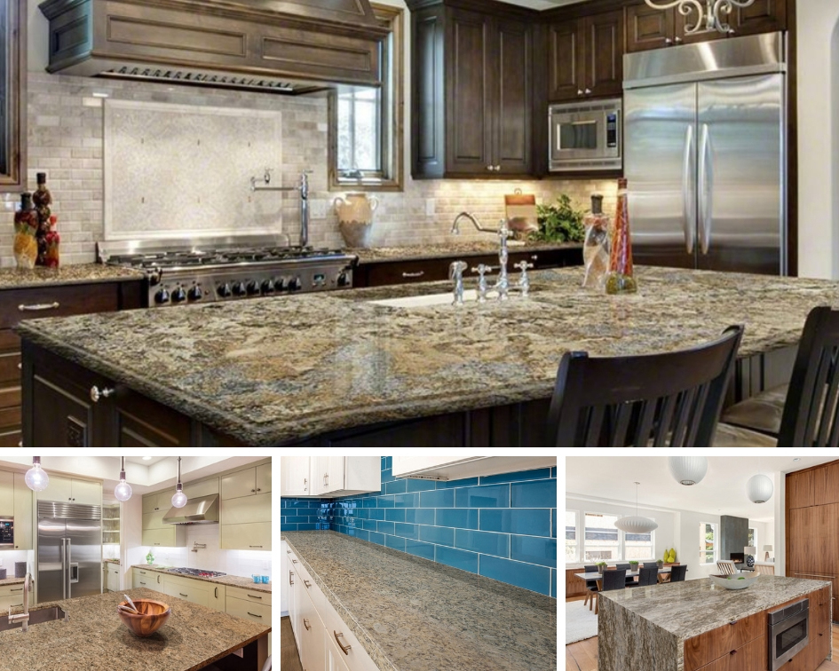 Gold Granite Countertops Sparkle and Shine
