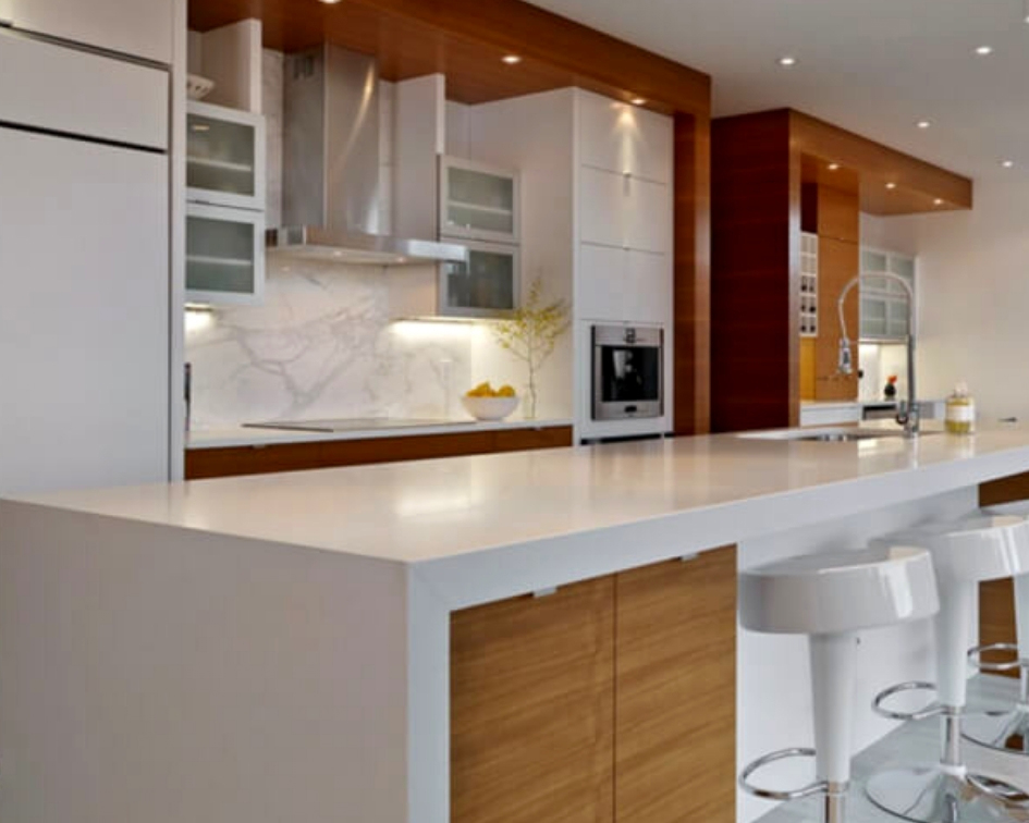 gorgeous quartz countertop kitchen