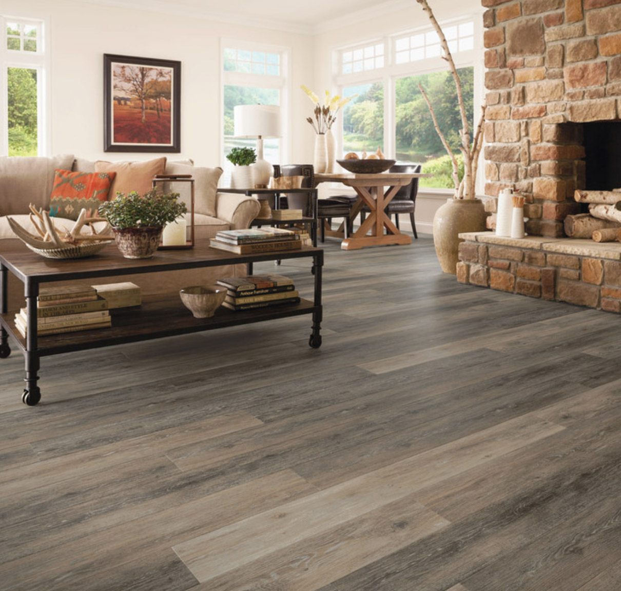 coastal living with luxury vinyl planks