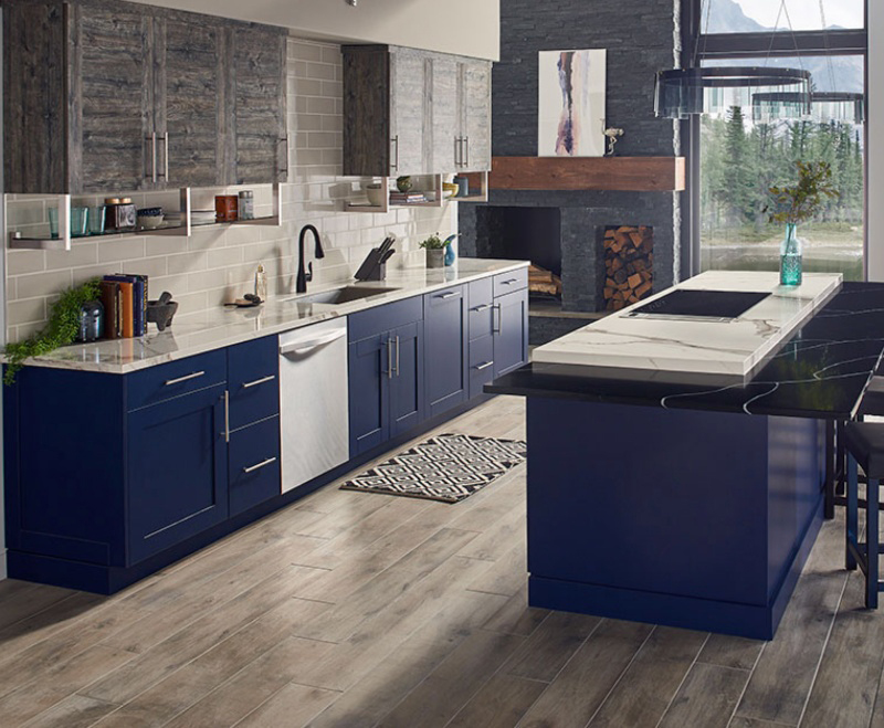 High Style And Low Maintenance With Polished Porcelain Countertops