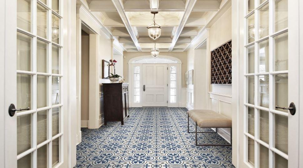 Kenzzi encaustic tile in entryway