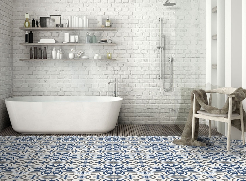 Old World Encaustic Tiles Take on a Modern Lo