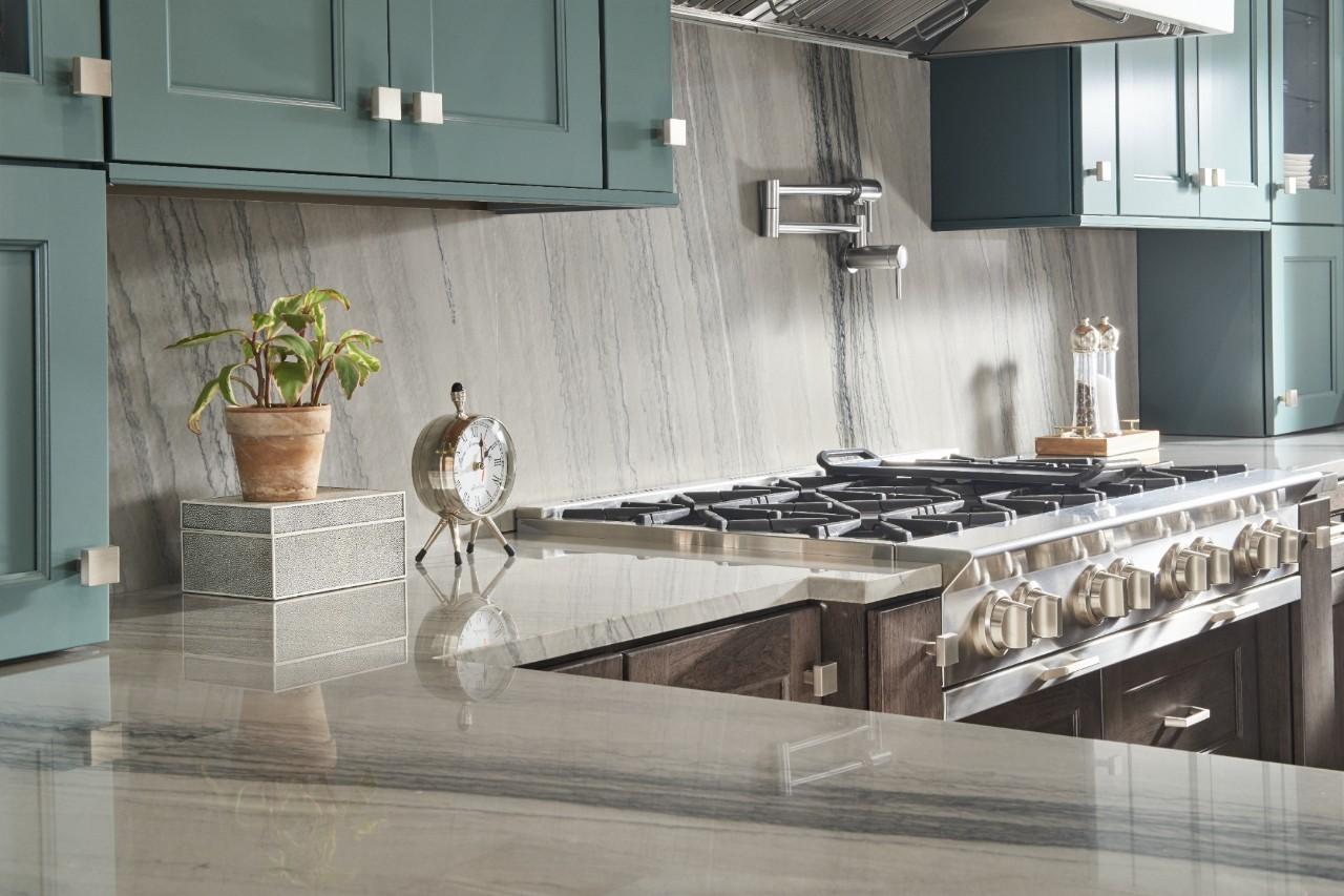 stunning quartzite countertop