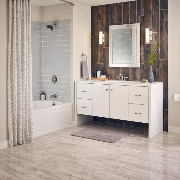 stone look porcelain tile bathroom flooring