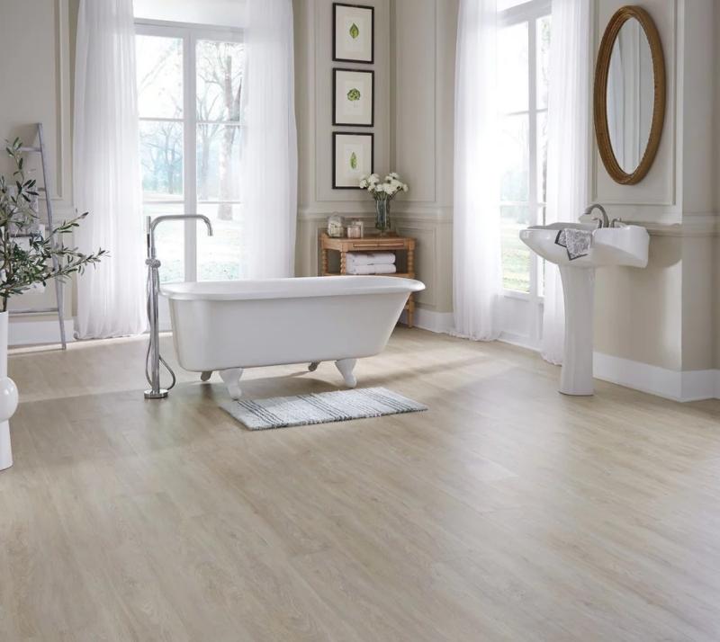 luxury vinyl tile in bathroom