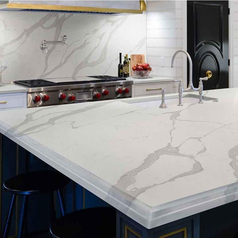 calacatta luccia quartz countertop