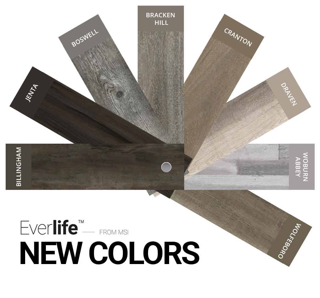 New Colors Make a Splash Underfoot: Everlife™ LVT