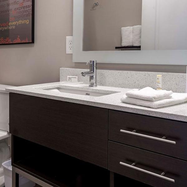 white vanity top prefab quartz countertop