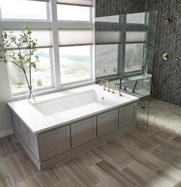 graphite porcelain tile bathroom