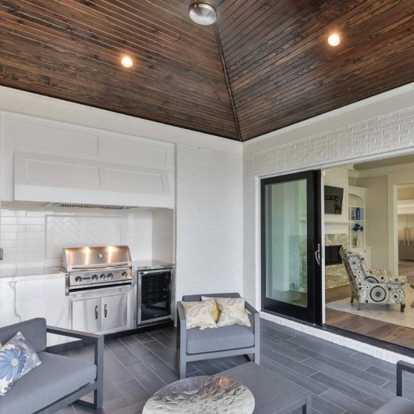sunroom with luxury vinyl flooring
