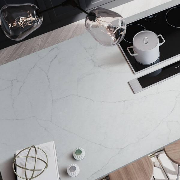 quartz countertop with electric stove