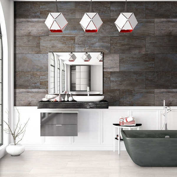 porcelain tile floor and wall