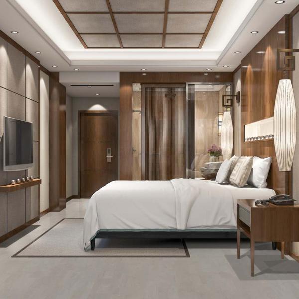 plank tile porcelain flooring for hotel