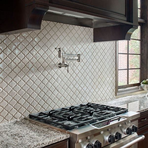 bianco arabesque elegant kitchen design