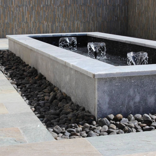"""pebbles+surrounding+water+feature"""""""""""