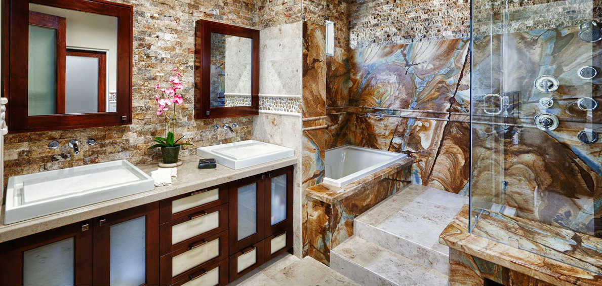 Book Matched Natural Stone Makes An Impression