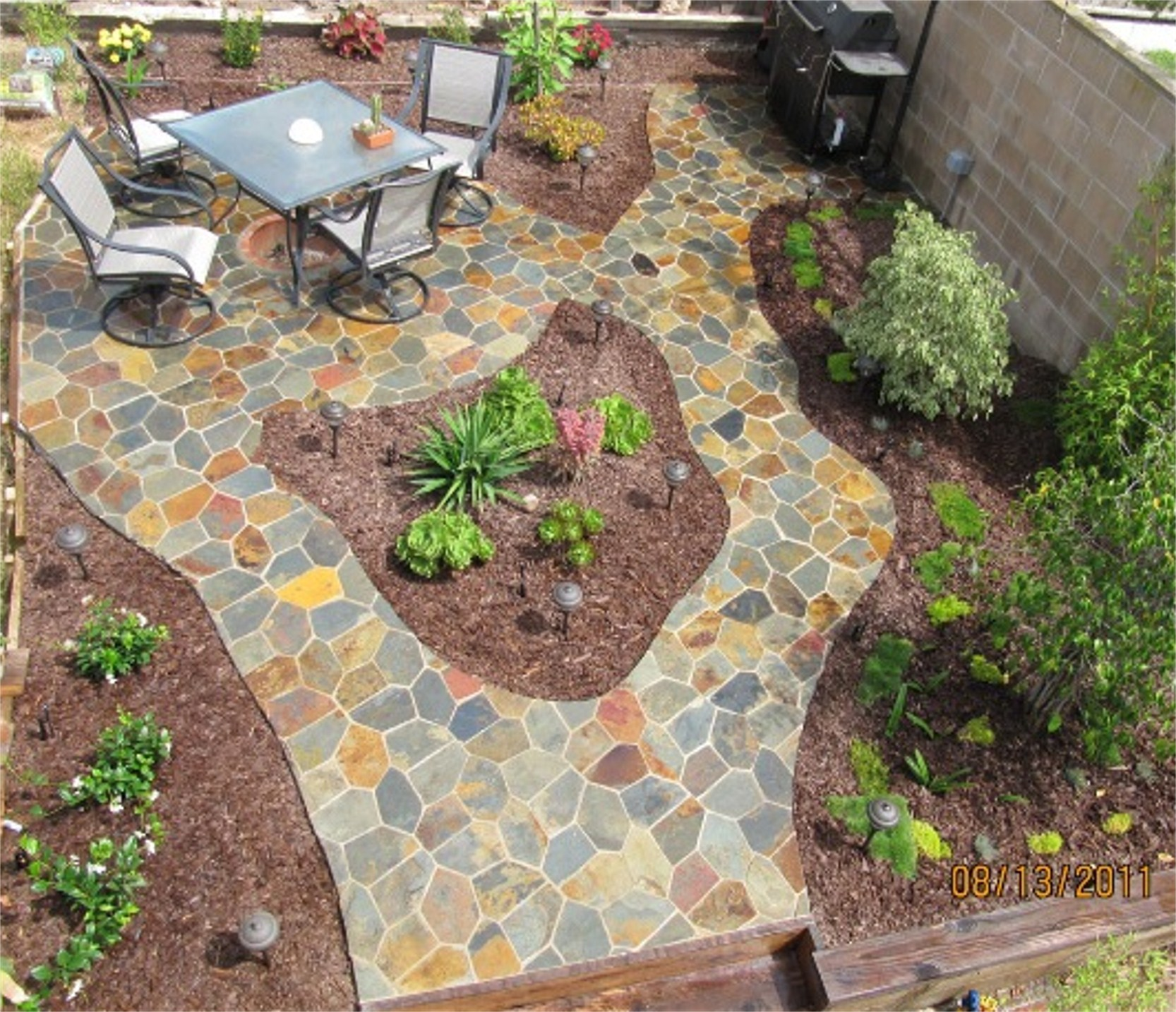The final step in installing your mesh mounted flagstone is to sit back and  admire the end product of your efforts, knowing that you created a stunning  ...