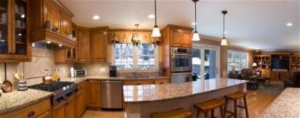 New Venetian Gold Granite With Honey Oak Cabinets