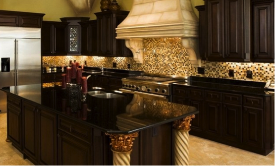 Black Granite Countertops: The Royal Appeal | MSI Blog on dark granite kitchen counter, green kitchen ideas, dark granite cabinets, dark dining room ideas, red kitchen ideas, dark finished basement ideas, silver kitchen ideas, dark flooring ideas, dark wood floors ideas, cobalt blue kitchen ideas, golden yellow kitchen ideas, black kitchen ideas, brick kitchen ideas, dark granite countertops, dark granite bathroom remodel, steel blue kitchen ideas, orange kitchen ideas, dark deck ideas, dark stone fireplace ideas,