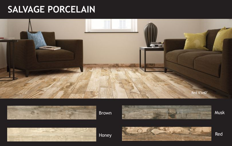 Down to Earth Style: Salvage Porcelain Flooring