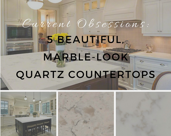 Greatest Current Obsessions: 5 Beautiful, Marble-Look Quartz Countertops JJ25