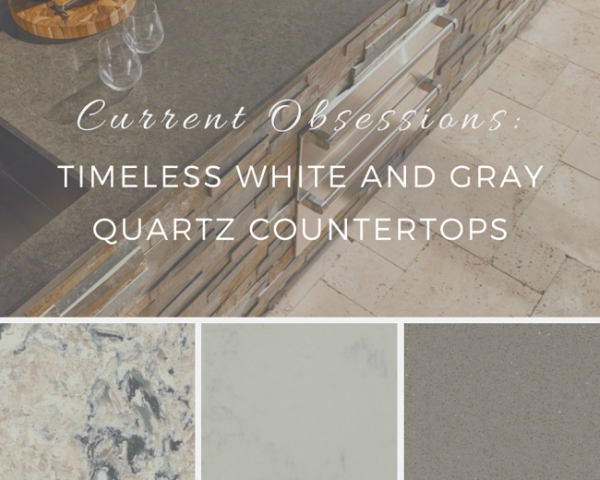 Well known Current Obsessions: Timeless White and Gray Quartz Countertops TF47