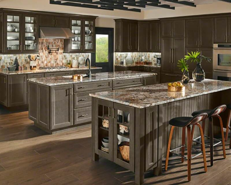 5 Popular Granite Kitchen Countertop and Backsplash Pairings Dark Forest Floor Texture