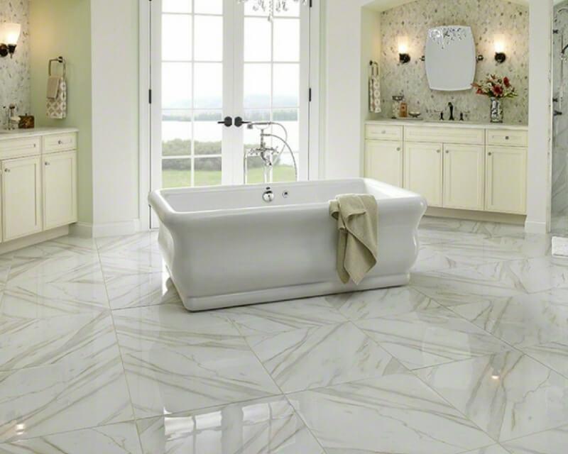 Favorite Double Take: 5 Porcelain Tiles You Won't Believe Aren't Marble HS27
