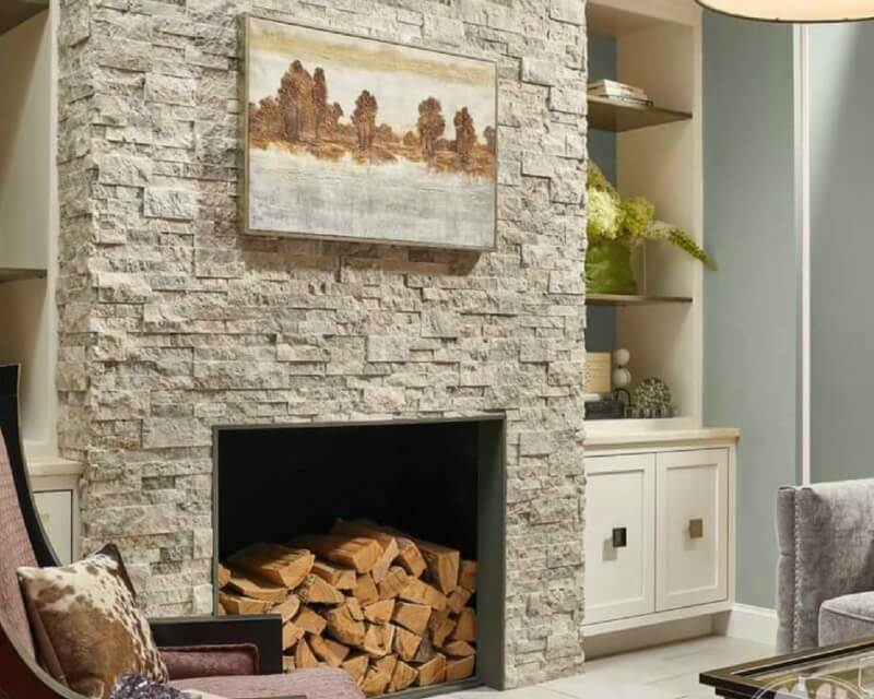 Stacked Stone Fireplaces, Stacked Rock Fireplace Pictures
