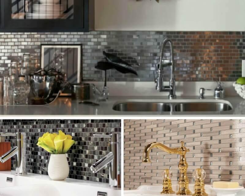 metal-tile-backsplash