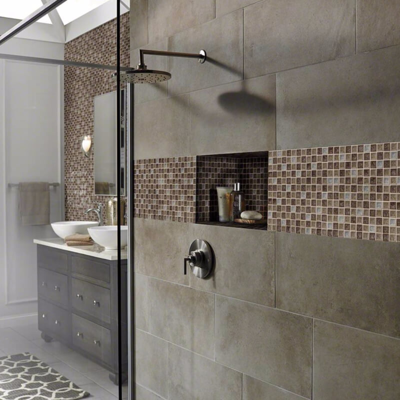 5 glass tile mosaics that will stand up to bathroom dampness 18484