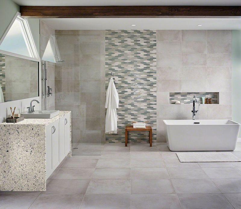 Talc Porcelain Bathroom Tile