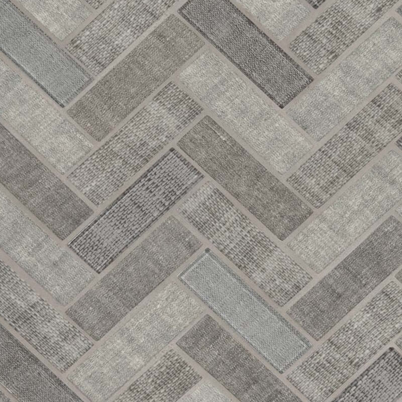 Textalia Herringbone Glass Mosaic
